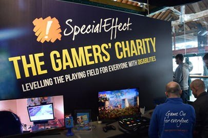 SpecialEffect's stand at the Rezzed expo in 2016.