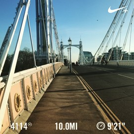 10 miles. Check!