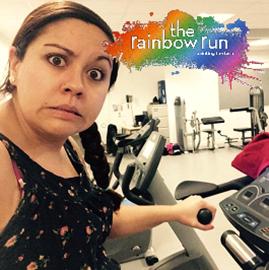 Tash Rainbow run