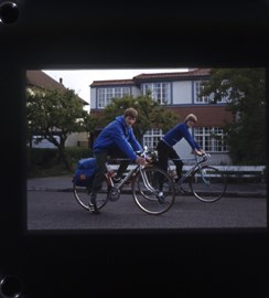 Robert and Me starting our cycling holiday 1980