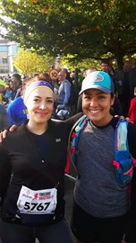 Danielle of Eat Primal, Run Hard and I before the dreaded race!