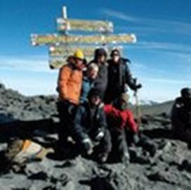 The summit at Mount Kilimanjaro