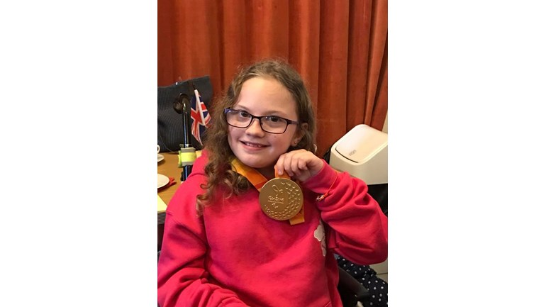 katie with mikey jones gold medal from rio 2016