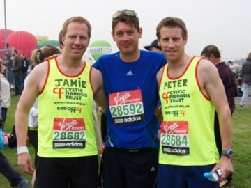 Jamie, Richard and Peter at the start!