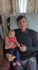 Dad with grand daughter Sarah