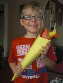 Logan with his Olympic Torch