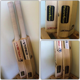 #score4scan stickers on cricket bats