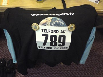 Race number for Telford 10K