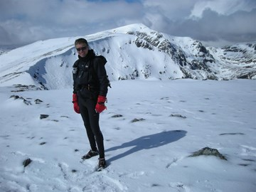 Glen Shiel in winter conditions