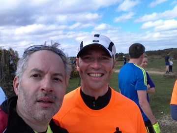 With Ben at Park Run - new PBs all round :)