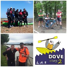 We did it! 14 consecutive days – no rest days – a 732 mile triathlon for Turtle Doves – DONE!