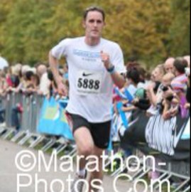 Me finishing the 2011 Windsor Half Marathon