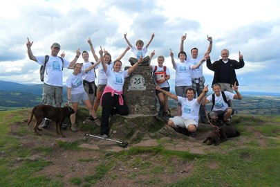 Team at the summit of The Skirrid 6:10pm