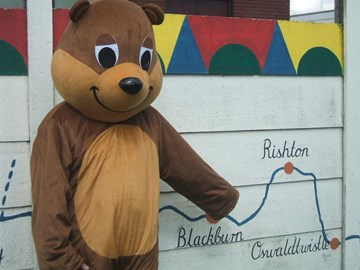 Benny Bear on the last Leeds Liverpool Canal walk