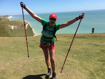A previous walk for Macmillan (26.5 miles 2017)