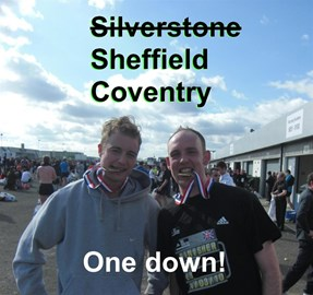 Me and Grounds after Silverstone.