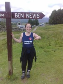 At the start of the Three Peaks Challenge