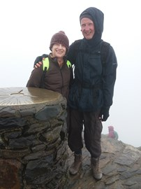 On Snowdon summit