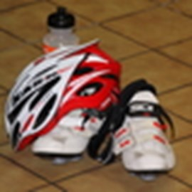 Helmet and shoes