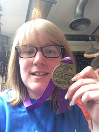 My finishers medal for the 2015 MCR 10k!