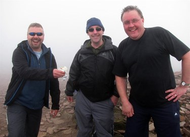 At the cairn Pen-y-fan