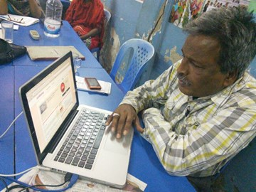 amirul leader of national garment workers federation visiting our just giving page!