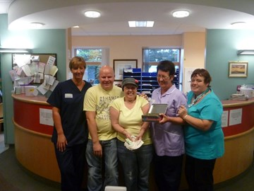 £1600 donation in September 2012