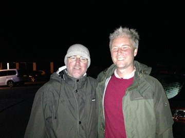 The wanderers return - arriving in Avebury as night fell