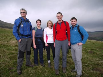 Mam Tor training day with part of the team 05/04/14
