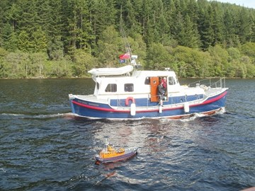 Russ's boat with the Mairi Bahn.