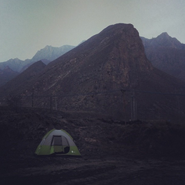 Camping in the Cold Chinese Mountains