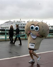 Me running the Brighton 10k on 15th Nov