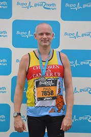Scrib at end of the Great North run 2011