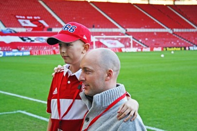 Tom and his Dad Ian