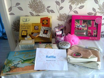 Raffle from the Coffee Morning