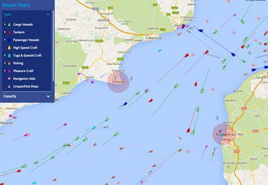 Marine Traffic in the Channel
