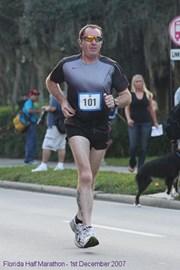 My first half marathon in Florida