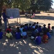 Children learning at Nankhono School