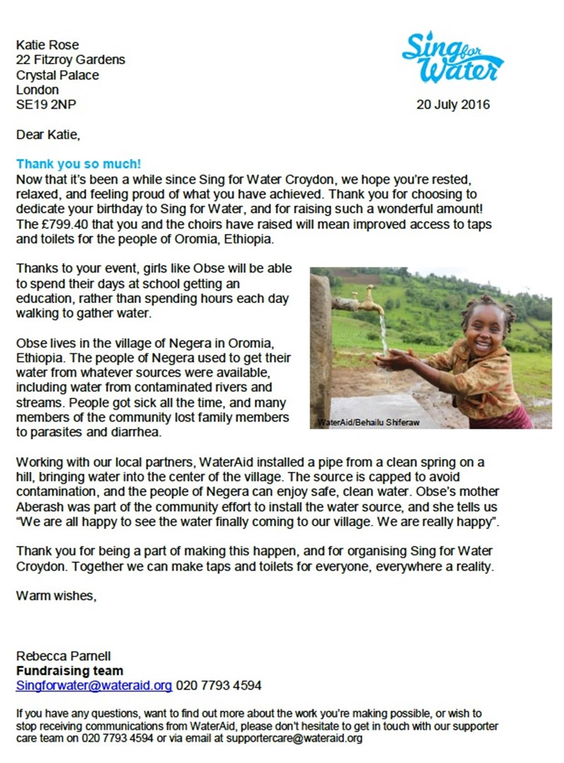 katie rose is fundraising for wateraid