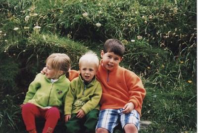 Edd, Maisie and Charlie