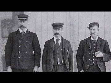 Flannans Keepers - From left, Thomas Marshall, Donald MacArthur and James Ducat