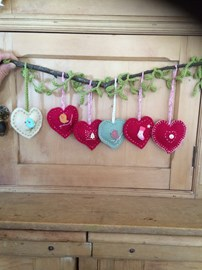 Handmade Hearts for Christmas £2.50 each plus postage