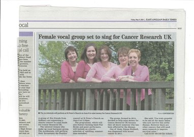 Newspaper article about us