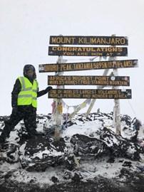 At the Uhuru (summit)