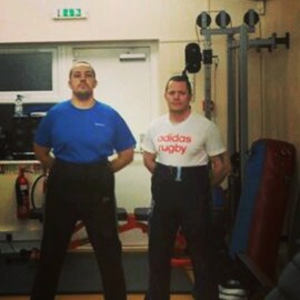 With my training partner and co-pastor, former Royal Marine James Richards. Yeah, we're nails mate!