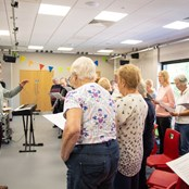 Norwich Theatre Royal Community Choir in rehearsal