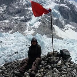 Liz Mooney at Everest Base Camp