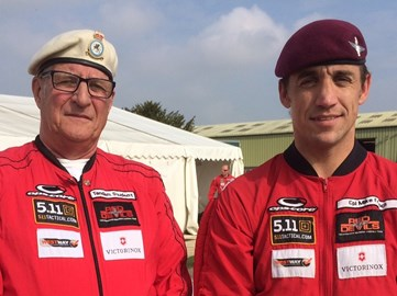 Cpl Mike French and I at Old Sarum Airfield, Salisbury, on, 26 September 2017