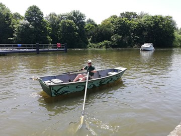 an inexperienced man on an inappropriate boat