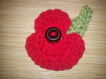 Handmade poppies in remembrance ...!